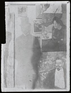 Picasso Milano Palazzo Reale, Pablo Picasso, Self-portrait in his studio 1901