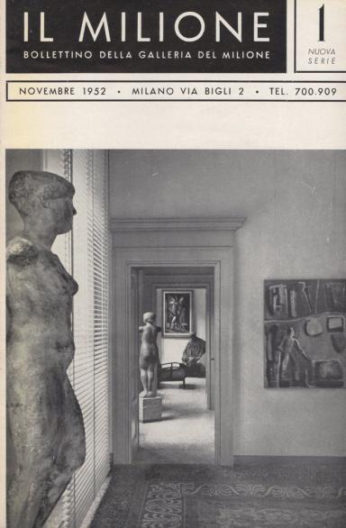 Quotazioni artisti contemporanei - bollettino del Milione con in copertina la Galleria