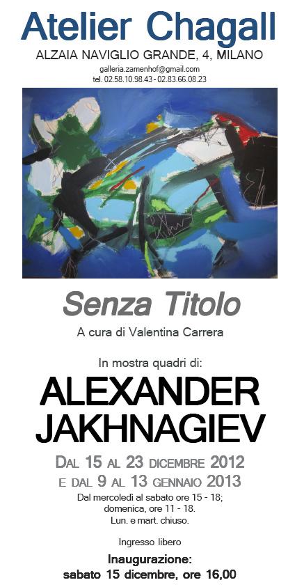 Atelier Chagall Milano, Alexander Jakhanagiev