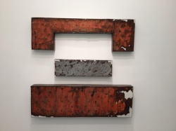 Fabbri Contemporary Art Milano, Alessandro Bergonzoni, SOTTO SOTTO SOTTO, 2012, CARTA, RUGGINE E LAMIERA,  165 X 51 X 15 CM