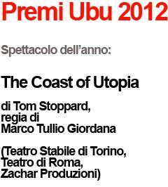Premi Ubu per il teatro 2012
