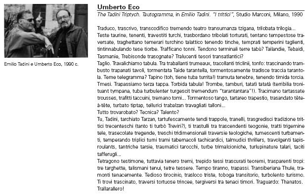 Tadini - Umberto Eco