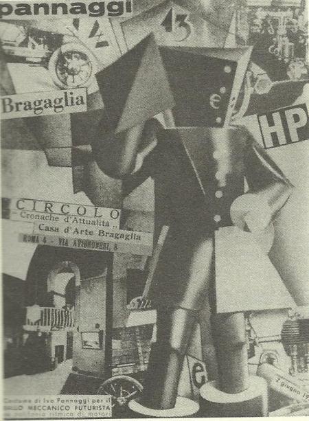 Ballo meccanico futurista, 1922, fotomontaggio, I. Pannaggi