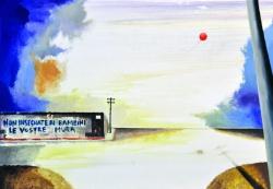 Giovanni Cerri, Terra straniera, 2011, olio su tela, cm. 140x200