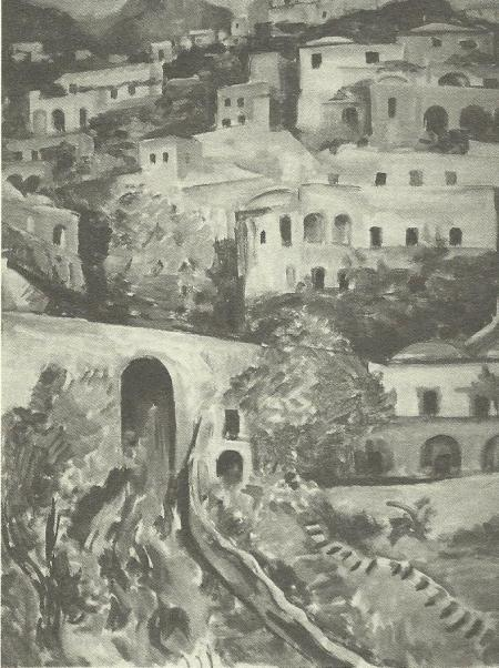 Paesaggio italiano, 1925, olio su tela. Berlino, Neue Pinakothek, M. Pechstein