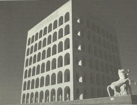 Palazzo della civiltà italiana (Palazzo della civiltà del lavoro), 1938-1942, Roma, G. Guerrini, E.B. La Padula, M. Romano