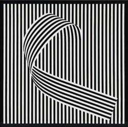 Franco Grignani, dissociazione dal campo 76, 1966, acrilico su cartoncino, cm 70x70