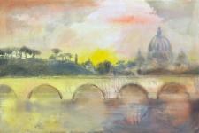 Giovanni Cerri, La città eterna, 40x60, olio