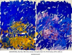 Joan Mitchell, Row Row 1982 ©Estate of Joan Mitchell. Courtesy Joan Mitchell Foundation