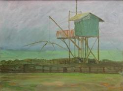Milano Arte - Walter Lazzaro, Ostia,1952,olio su cartone,cm 30,4x39,3