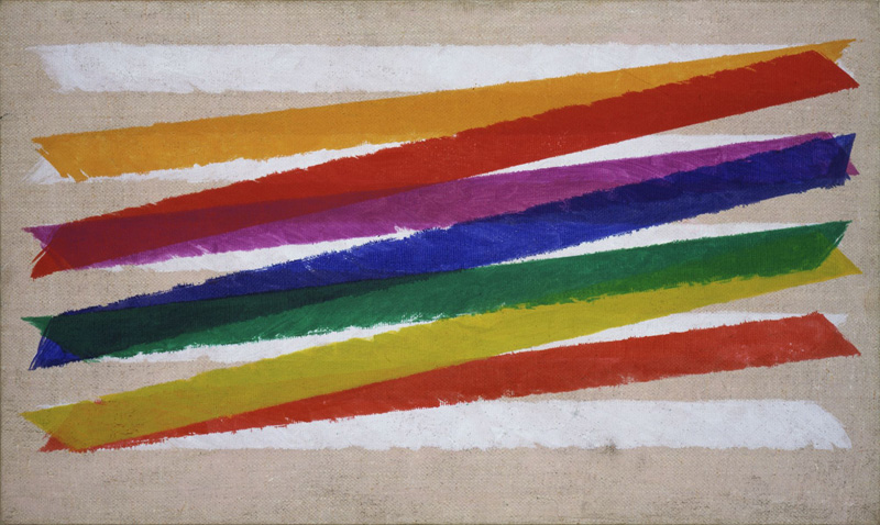 Piero Dorazio, Unitas, 1965 Olio su tela, 45,8 x 76,5 cm Collezione Peggy Guggenheim