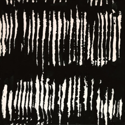Pierre Soulages, Encre sur papier 76x75 cm, 2003 - Photo Georges Poncet -