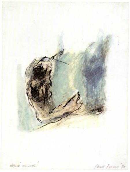 Renzo Ferrari, Doppia natura, 1980, tecnica mista, cm 21,5x29