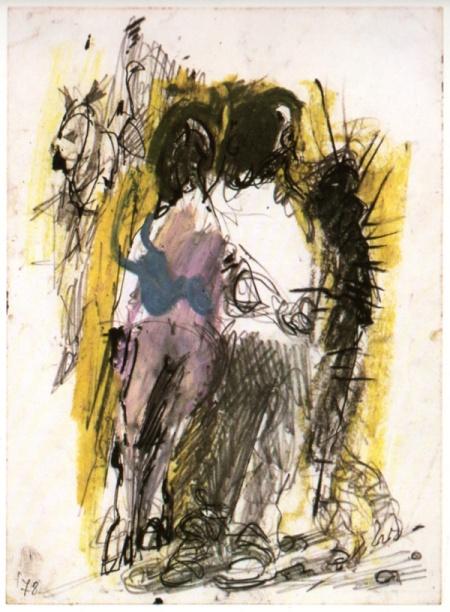 Renzo Ferrari, En plain-air, 1978, tecnica mista, cm 17,2x23,2