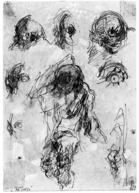 Renzo Ferrari, Mimesi, 1979, grafite, cm 20x27,4