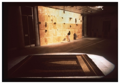 ALDO MONDINO Galleria Santo Ficara, TAPPETI STESI E APPESI - Aldo Mondino e Mekka Mokka