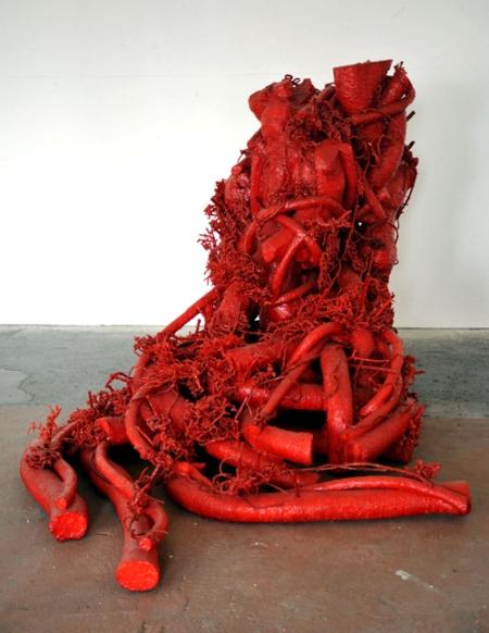 BonelliLAB - Paolo Grassino, Madre, 2010, cera su polistirolo e radici, cm 134x153x223