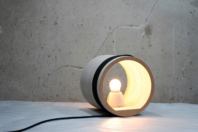 MADtastic! Fresh Design From Madrid,  Woodroll Lamp by Valentin Sanz