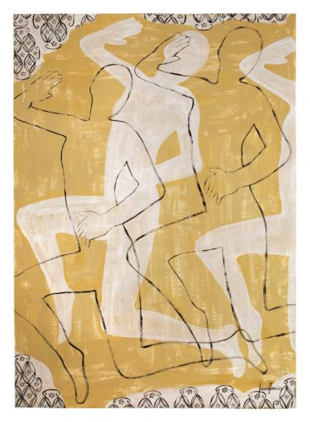 Spazio Tadini, Laura Zeni Ombre danzanti, 2013 dittico, acrilico su carta intelata, cm 100x280, particolare