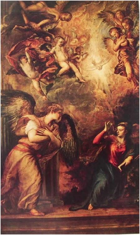 Tiziano Annunciazione, 1563-1565, Venezia, Chiesa di San Salvador