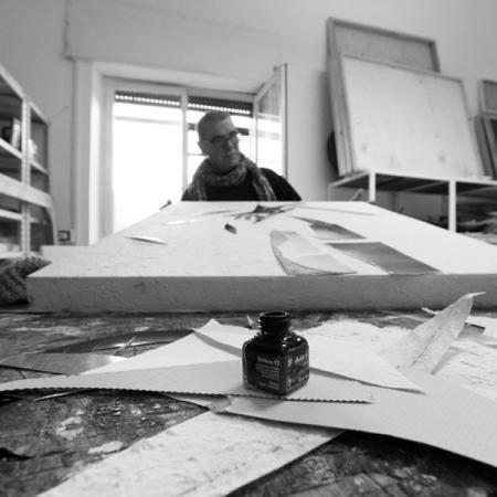 Ernesto Terlizzi -  lo studio dell'artista