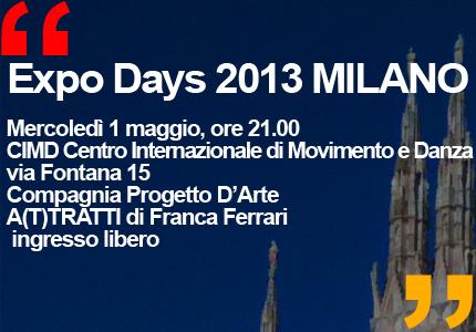 Expo Days 2013 PROGRAMMA