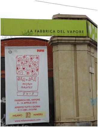 Fuorisalone 2013 a Milano. Mostra Bla Bla. Fabbrica del Vapore