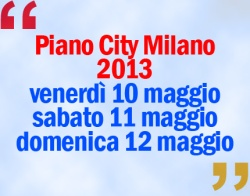 Piano City Milano 2013
