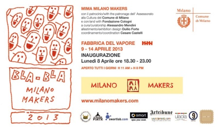 Salone del Mobile - Fuorisalone 2013 a Milano. Mostra Bla Bla. Fabbrica del Vapore