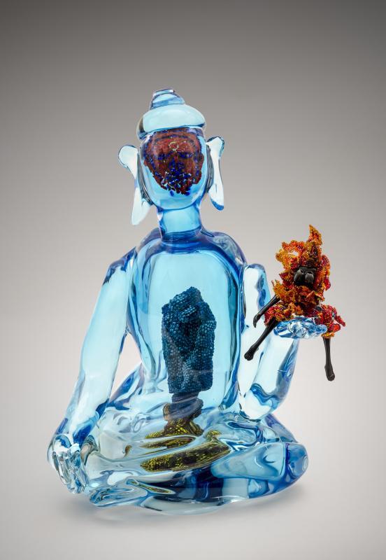 Biennale di Venezia 2013, GLASSTRESS - Joyce Scott, Buddha (Wind), 2013, Hand blown glass processes with beads, Variable dimensions