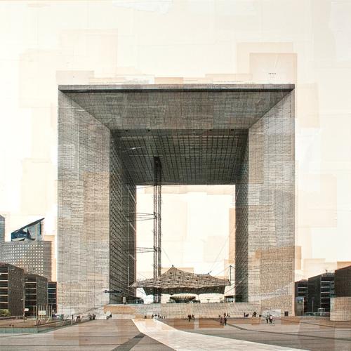 Costantini Art Gallery - Nicolò Quirico - Parigi - Arc de la Defence, cm 100x100