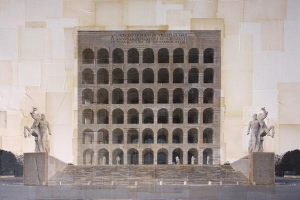 Costantini Art Gallery - Nicolò Quirico - Roma - Palazzo della civiltà italiana, cm 100x150