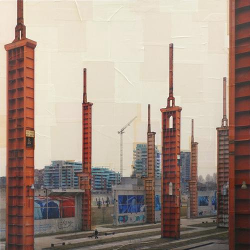 Costantini Art Gallery - Nicolò Quirico - Torino - La città che sale, cm 150x150