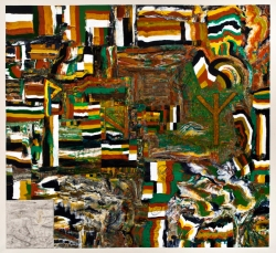 FONDAZIONE MARCONI William T. Wiley, Abstract Landscape with Runes & Fistkill, Cliff, 2012