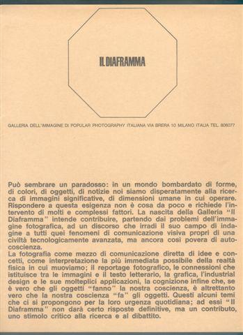 Il Diaframma- fotografia - Copertina primo catalogo