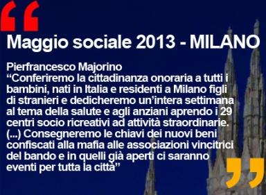 MAGGIO SOCIALE 2013 MILANO