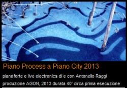 Piano City Milano 2013 programma - AGON Antonello Raggi, Piano Process