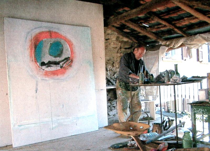 Renzo Ferrari a Cadro - atelier dell'artista