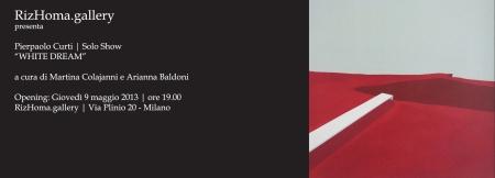 RizHoma.gallery  Milano - Pierpaolo Curti WHITE DREAM mostra