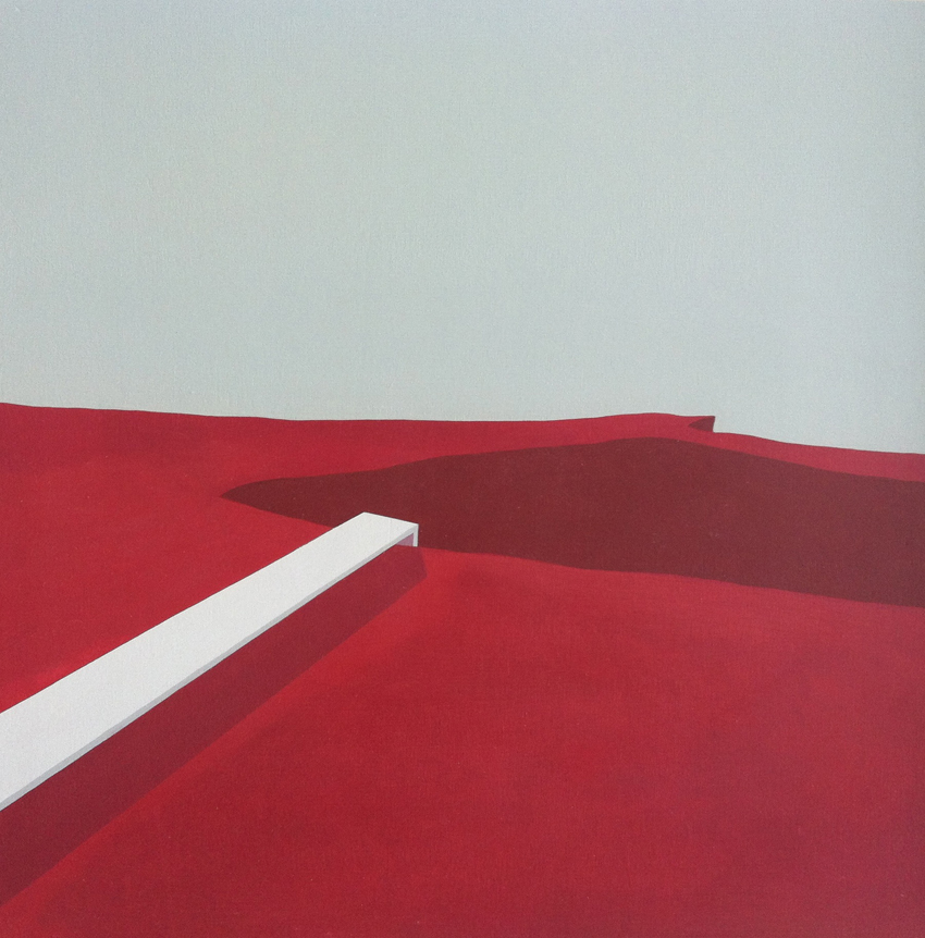 RizHoma.gallery  Milano - Pierpaolo Curti_Red hole#2_2013_acrilico e cera d'api su tavol_40x40cm (1)