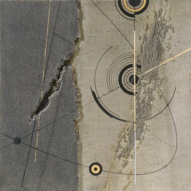 Walter Valentini - SOTHIS IV, 2006, tecnica mista su tavola, 60x60 cm