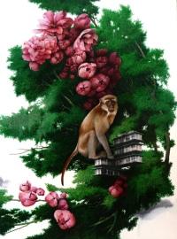Carlo Cane, The Monkey cm 80x602013 olio su tela applicata su tavola