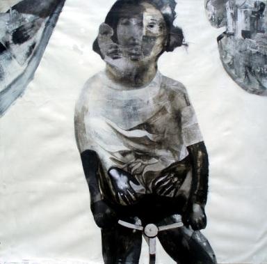 Matteo Benetazzo, A 150 per l'Italia, acrilici su carta intelata, 2012