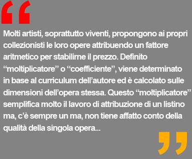 quotazioni e mercato arte contemporanea