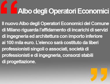 Albo degli Operatori Economici - Comune di Milano