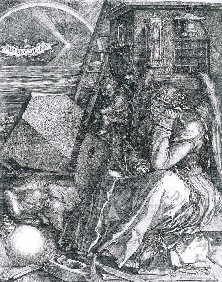 Albrecht Durer, La Malinconia (Melencolia I), 1514, bulino, 240 x 185 mm