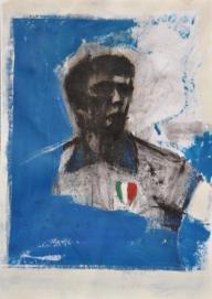 Dino Zoff, 2010, olio, cm. 100x70 - PORTIERI D'ITALIA - Giovanni Cerri