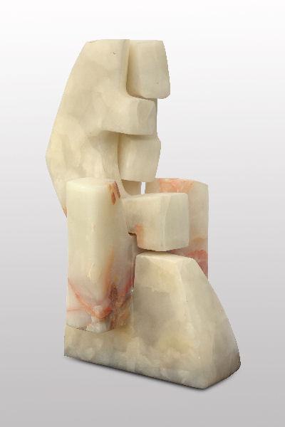 Giancarlo Sangregorio, Contra Punctum, 1996, Alabastro, H cm 40x20x20