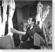 Giancarlo Sangregorio, scultore - laboratorio