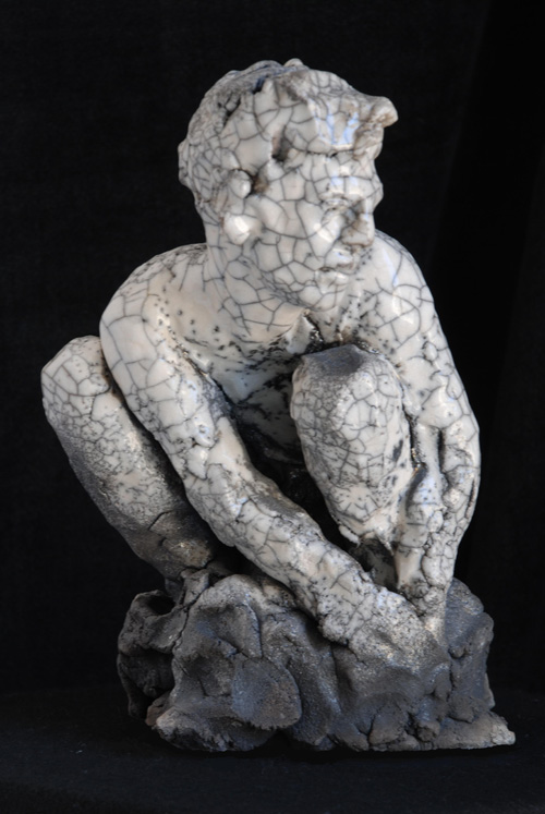 Marco Mariucci - 'Adamo' - ceramica raku - 2011